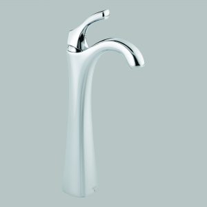 Chrome Single Handle Vessel Lavatory Faucet with Riser