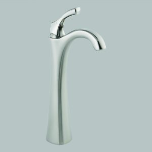 Brilliance Stainless Single Handle Vessel Lavatory Faucet with Riser