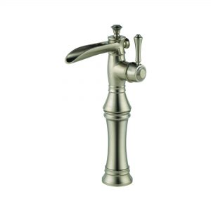 Single Handle with Channel Spout and Riser Brilliance Stainless