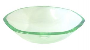 Clear Glass Heptagon Vessel