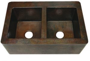 Copper Farmhouse 50/50 Sink with Apron