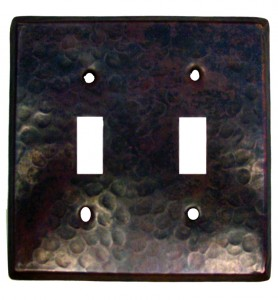 Double Light Switch Copper Plate Cover