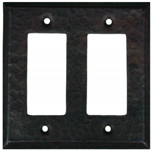 Double Rocker Copper Plate Cover