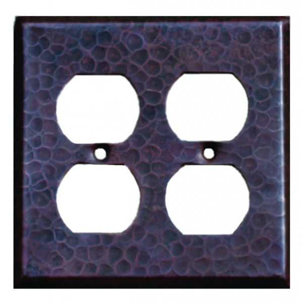 Double Socket Copper Plate Cover