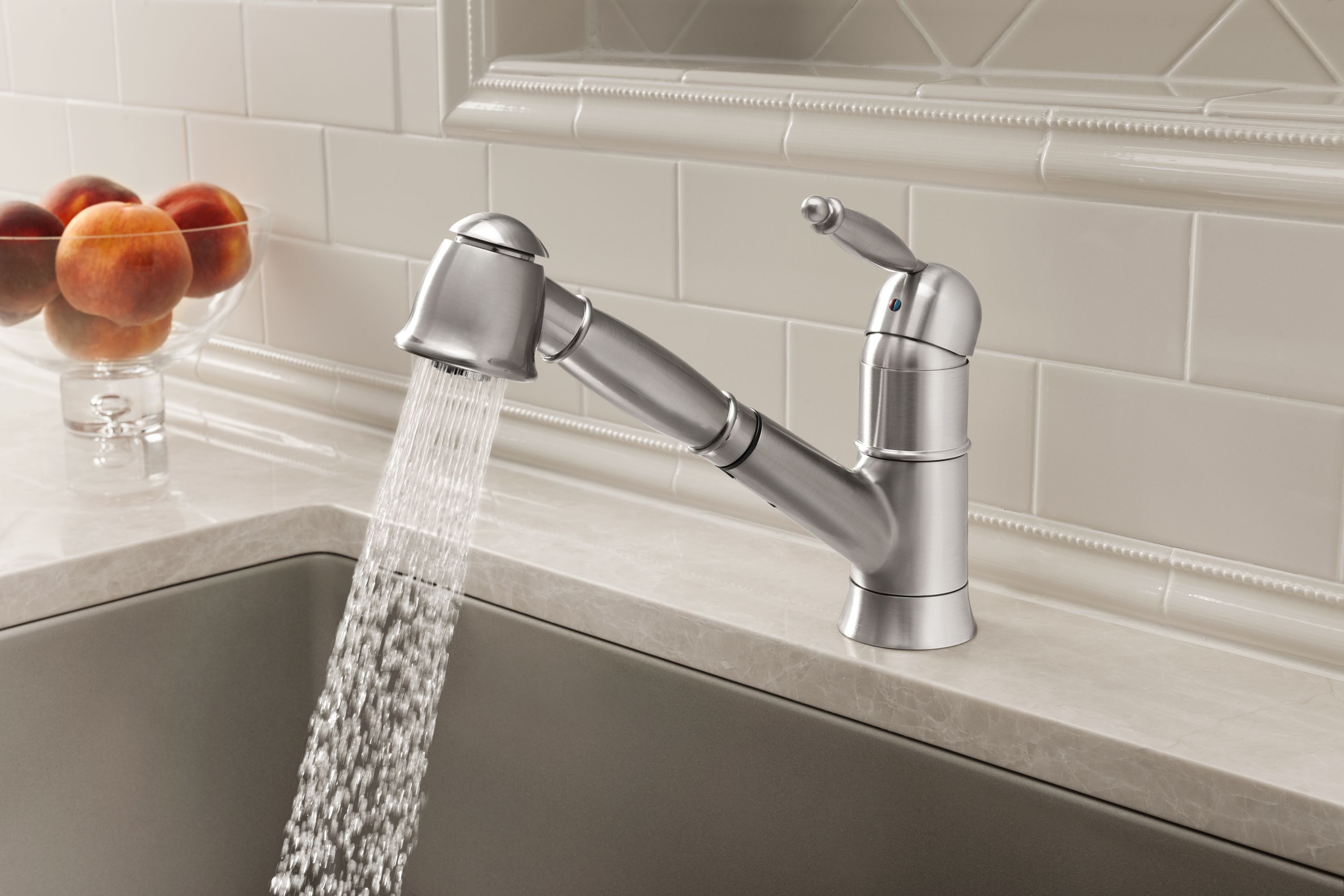 with pro high kitchens colony handle spout faucet kitchen faucets standard arc two swivel american