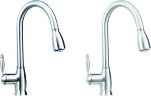 Satin Nickel Pull-Down Kitchen Faucet