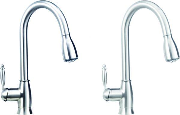 Satin Nickel Pull-Down Kitchen Faucet