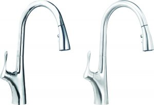 Chrome Pull-Down Kitchen Faucet