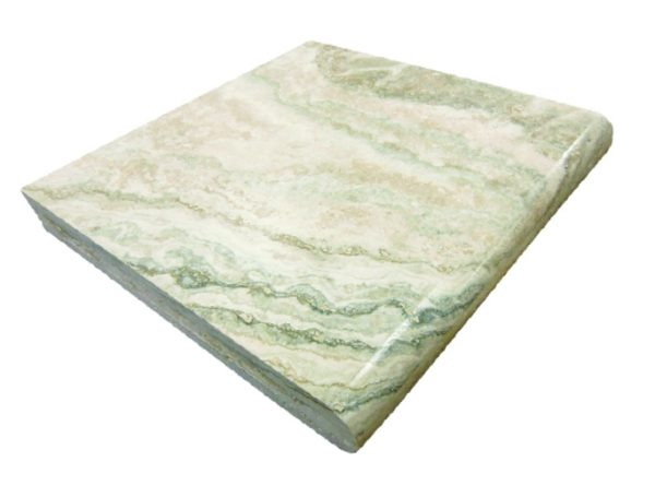 Cr̬me Brulee Travertine – Single Bullnose Coping