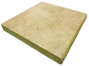 Light Walnut Travertine - Single Bullnose Coping
