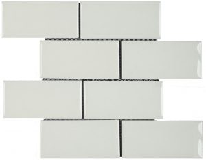 3x6 White Crackle Brick