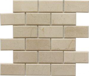 2x4 Crema Marfil Bevel Brick