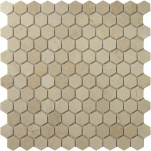 1x1 Hexagon Crema Marfil