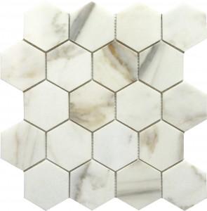 3x3 Calacutta Hexagon