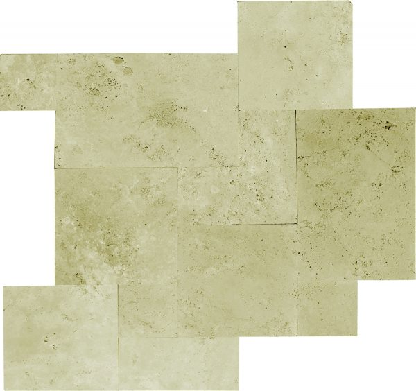 Ivory Versailles Pattern Straight Edged and Brushed