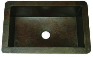 Single Well Copper Kitchen Sink