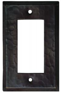 Single Rocker Copper Plate Covers