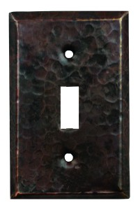 Single Light Switch Copper Plate Cover