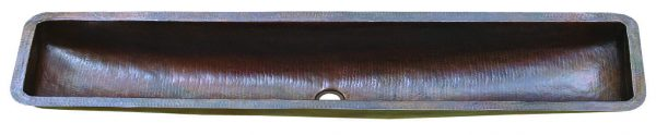 Copper Barrel Trough Sink – 16 guage