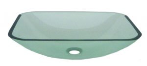 Clear Glass Rectangular Vessel
