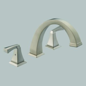 Roman Tub Trim (Includes Handles) Brilliance Stainless
