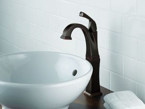 Single Handle Centerset with Riser Venetian Bronze