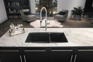 Satin Nickel Semi Professional Kitchen Faucet