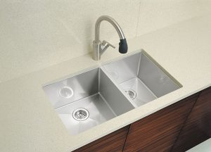 Satin Nickel Kitchen Faucet with Side Spray