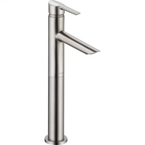 Compel Single Handle Centerset with Riser Brilliance Stainless